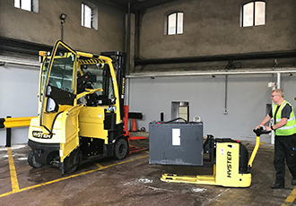 Specially engineered lift trucks refresh operations